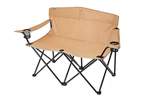 SOLO UP アウトドア チェア キャンプ 2人 ベンチ ダブル アーム イス 折りたたみ 椅子 ローチェア 収納袋付き A-2056