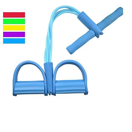 ZXJOY Körpermitte & Bauch Trainer, Ruderschlauch, Shape-Up Trainer, Zugseil, Fitness-Ausrüstung, Boot, Rudern, Bauchmuskel, Training, Erweiterung, Unisex, blau
