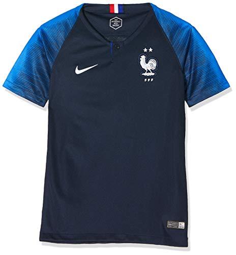 Nike FFF Y Nk BRT Stad JSY Ss Hm T-Shirt FFF Stadium Home 2018 Unisex Kinder M Obsidian/Kobaltblau (Obsidian/Hyper Cobalt)