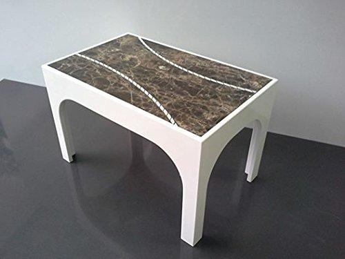 PATALANO MARMI Tavolino da Salotto in Marmo Bianco e Marron Emperador Concep Design