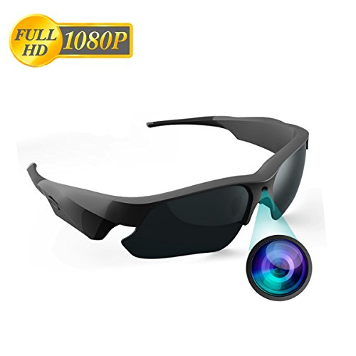 Gafas de Sol Cámara, jiyi Bidi Full HD 1080p Mini Cámara de vídeo con protección UV polarizadas Lente