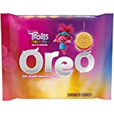 OREO Golden Sandwich Cookies, Pink Colored Creme with Glitter, Trolls World Tour Limited Edition, 1 Pack (10.7 oz.)