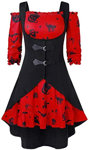 oceansEdge Halloween Outfit Dresses/Womens Tunic Tops, Off The Shoulder Sexy Blouse with...