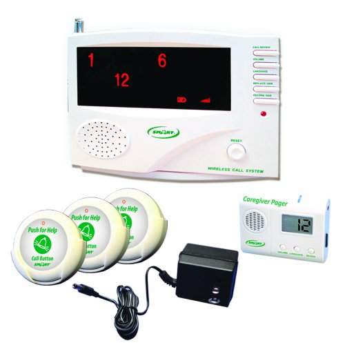 SMART CAREGIVER 433-SYS 30 Channel Central Monitoring Unit with 3 Nurse Call Buttons, Pager And Ac Adaptor