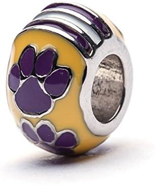 Louisiana State University Charm LSU Tigers Tigers Paw Charm Officially Licensed Louisiana State product image