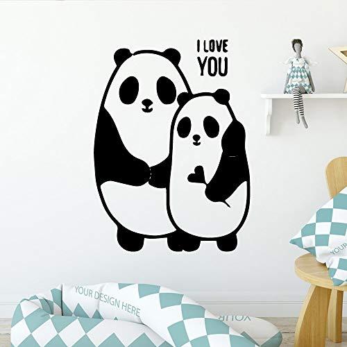 JXMN Panda Pegatinas de Pared a Prueba de Agua Sala de Estar habitación de los niños Dormitorio decoración de jardín de Infantes decoración de Arte de Pared 60x80 cm