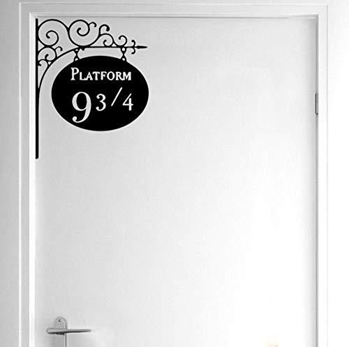 Muursticker platform 9 3/4 deur decor sticker kunstenaarse muursticker voor kinderkamer 19,9 * 25 cm 2 stuks