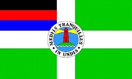 U24 Aufkleber Borkum Flagge Fahne 8 x 5 cm Autoaufkleber Sticker