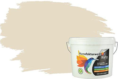 RyFo Colors Bunte Wandfarbe Manufakturweiß Vanillegelb 6l - weitere Gelb Farbtöne und Größen erhältlich, Deckkraft Klasse 1, Nassabrieb Klasse 1