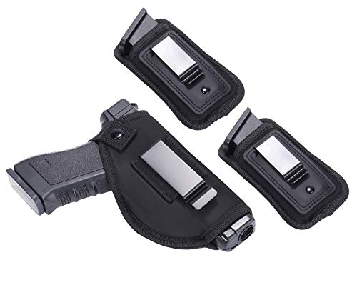 Universal Right Left IWB Holster for Concealed Carry   Inside The Waistband   for All Firearms S&W M&P Shield Glock 17 19 23 25 26 27 29 30 32 33 38 42 43 Springfield XD X   with Extra Magazine Pouch