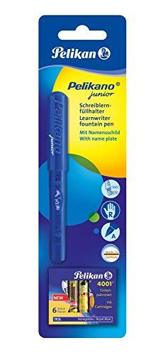 Pelikan 940957 - Schulfüller Pelikano Junior P67 blau/rot für Rechtshänder mit A-Feder und blauer Tintenpatrone