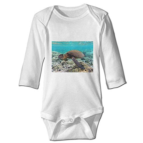 Blue Sea Turtles and Son Nautical Map Baby Jumpsuit Crawling Clothes Long Sleeve Toddlers Newborn Infant