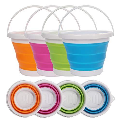 Cubo de Agua Plegable (4 Piezas) - 5litros Cubo de Plegable en...