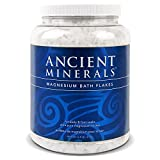 ancient minerals magnesium salt bath flakes for body and foot soaks 4.4lb / 2kg
