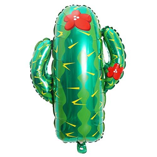 Amosfun 2 unids Globos de Cactus Globos de Papel de Aluminio para Fiesta Mexicana Fiesta de Cumpleaños Fiesta de Cumpleaños Decoraciones Suministros