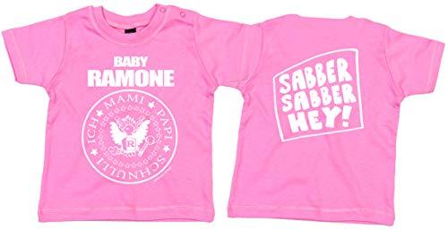 Camiseta para bebé de los Ramones, color rosa rosa 80 cm