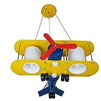 創造的な漫画航空機LEDシャンデリア子供の寝室研究幼稚園錬鉄製シャンデリアストロボアイシャンデリアなし