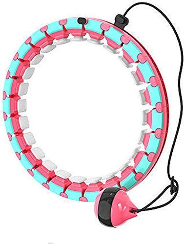 Smart Hula-Reifen, Einstellbare Größe Hula-Reifen, Sport Und Fitness Hula-Hoop, Geeignet Für Erwachsene Kinder Und Anfänger (Color : Pink)