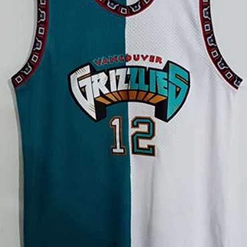Camiseta De JIA Morant para Hombre, Uniforme De Baloncesto De Los Memphis Grizzlies # 12 Camiseta De Fitness Retro Camiseta Deportiva con Chaleco Informal Tejido Cóm 6-XL