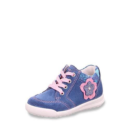 Superfit Mädchen Avrile Mini Sneaker, Blau (Blau/Rosa 80), 21 EU