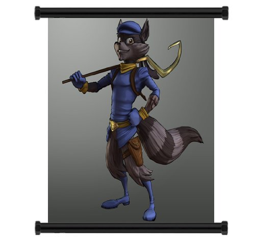 Yutirerly Sly Cooper: Thieves in Time Game Fabric Wall Scroll Poster (16' x 16') Inches