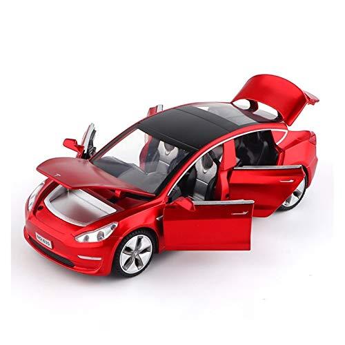 NMBD Berühmtes Automodell 1.32 Tesla Model X Modell 3 Modell S-Legierung Auto-Modell Gießt Druck Spielfahrzeuge Spielzeug-Autos Kid Spielzeug for Kinder Geschenke Jungen-Spielzeug (Color : Red)