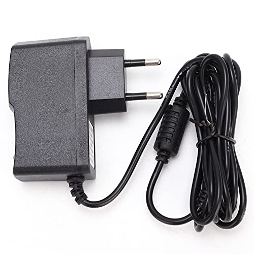 Adaptador de corriente de pedal 9V AC Cable de plástico negro Longitud de línea 190cm Adaptador de fuente de alimentación universal para guitarra Pedal de efectos(Enchufe de la UE 110-240V)