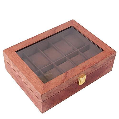 Demarkt - Caja para relojes (con tapa de cristal)