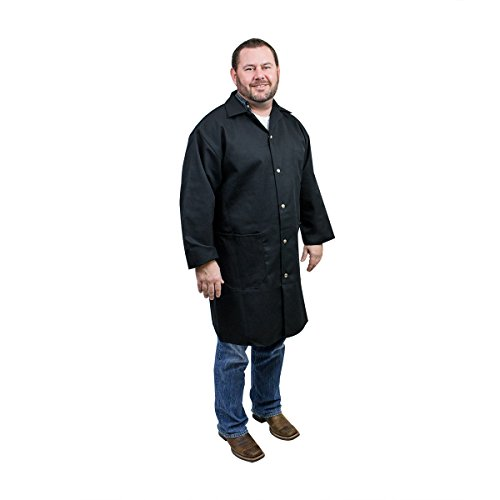 UltraSource 460014-4XL Long Sleeve Smock/Lab Coat, Unisex, 4X-Large, Black