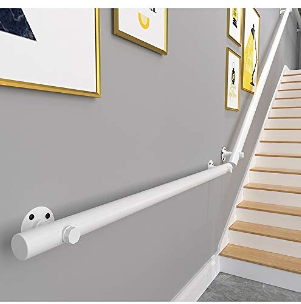 設計図平和な打倒手すり ブラケット付き屋内階段用手すり、無垢材ステップ/廊下/幼稚園用手すり、滑り止め (Color : White, Size : 30 cm (1 ft))