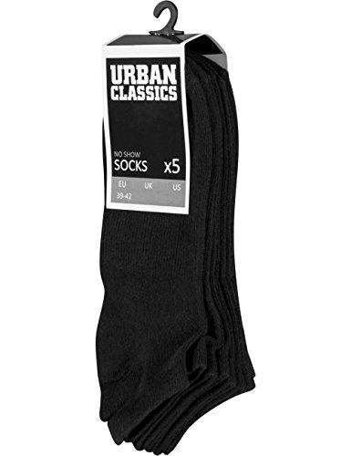 Urban Classics Herren No Show 5-Pack Socken, Black, 43-46