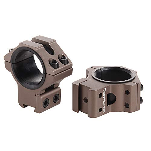 WestHunter Optics Dovetail Rifle Scope Rings, 1 in/30 mm Tactical Precision Low Profile Scope Mount, Tan