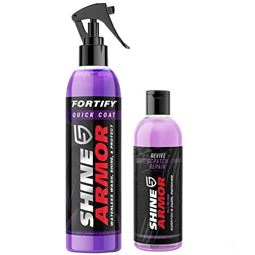 SHINE ARMOR Fortify Quick Coat & Revive Scratch Repair - Ceramic Car Coating and Scratch, Swirl, and Scuff Remover