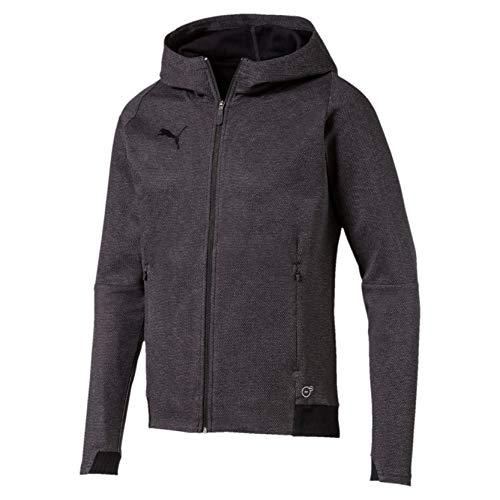 PUMA Herren Final Casuals Hooded Jacket Sweatshirt, Dark Gray Heather, M