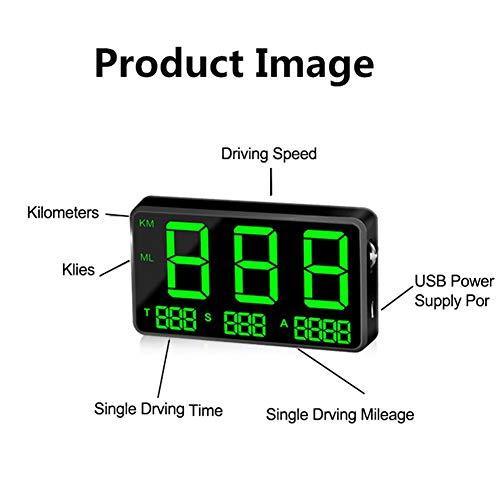 Perfecthome Universeel hoofdscherm, GPS-navigatiesysteem, snelheidsmeter, kleur groen, voor auto, C80 GPS-apparaat, eenvoudig op het oog