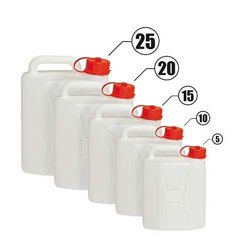 BuyStar Tanica per Alimenti in Polietilene Ideale per Trasporto o Stoccaggio di Liquidi, Bibite, Acqua (plastica, 5 Litri)