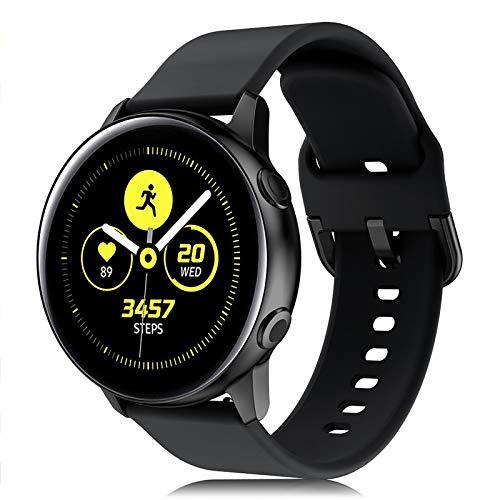 Onedream Cinturino Compatibile con Samsung Galaxy Watch Active/Active 2 44mm 40mm, Sportivo Silicone Bracciale Compatibile con Galaxy Watch 42mm/ Galaxy Watch 3 41mm Donna Uomo Nero