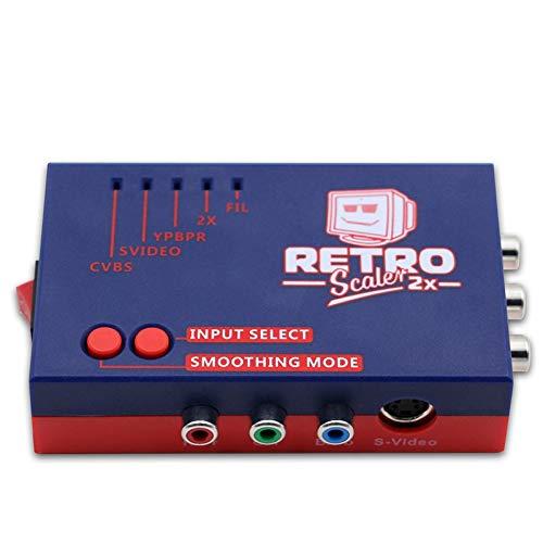 Mogzank para Retroscaler2X AV una Convertidor y Doblador de LíNeas para Consolas de Juegos Retro Ps2 / N64 / NES/Sega/Saturn / Md1 /...