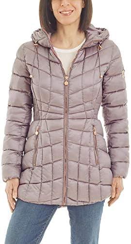 Bernardo Ladies' Quilted Jacket (Moon Dust, X-Large)