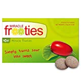 Miracle Frooties - Miracle Fruit Tablets, Turn Sour Foods to Sweet, Taste Tripping, Change Taste Buds. Miracle Berry Tablets 100% Naturally Grown Miracle Berry (10 count (Pack of 1)-Green)