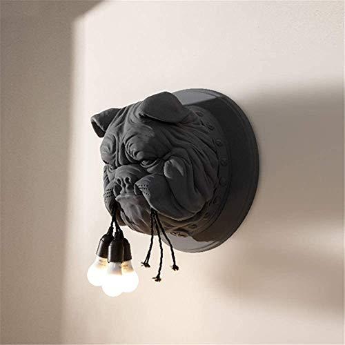 YYF Creatieve lamp, hoofdlamp, sculptuur van kunsthars, warm-gloeilamp, wandlamp, E27, voor slaapkamer, woonkamer, familie, hal en keuken