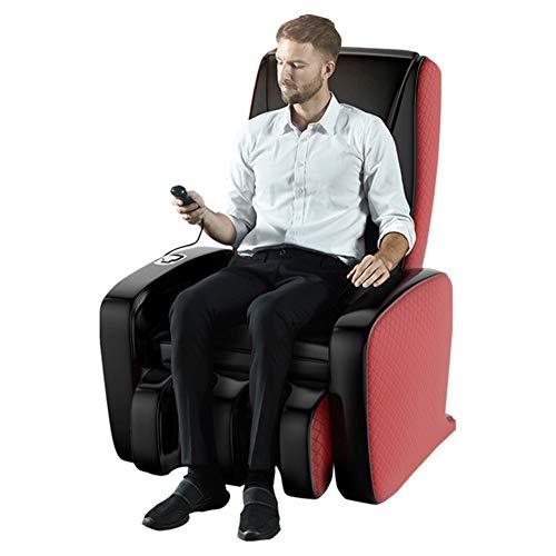 Cacoffay Completamente automático Pequeño Espacio Multifuncional Masaje Silla Cero Gravedad Lleno Cuerpo Eléctrico Shiatsu Silla Sillón reclinable para Hogar Oficina