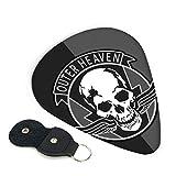 Outer Heaven Logos - Cejilla para guitarra eléctrica, acústica y bajo, con púas, engranaje duradero y accesorios de guitarra 0,46 mm