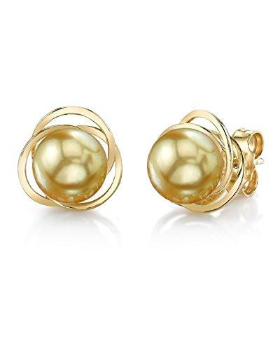 Mar del sur de oro pendientes en perla cultivada Lexi 14 K oro