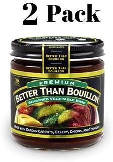 Better Than Bouillon Premium Vegetable Base Bouillon, 8 oz (2 Pack) in a Prime Time Direct Sealed Bag