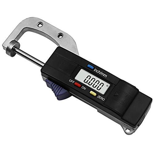 Medidor de espesor horizontal digital Meipai, herramienta de medición de diámetro redondo con regla de perlas de joyería de 0,01 mm