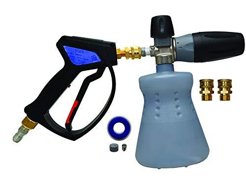 MTM Hydro Kit de pistola de pulverización y cañón de espuma profesional premium 28 con accesorios de acero inoxidable y latón