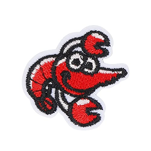 Agatige Toppe Ricamate da 10 Pezzi, Toppe con Ferro da Stiro Decorazione Fai da Te Animali marini Ricamo per Strumenti di Riparazione(Lobster Cloth Sticker)