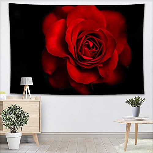 GTHIGJ tapizHermoso Tapiz de Pared de Rosas Decoraciones para el hogar Tapices de Bosque para Colgar en la Pared Decoración de Fiesta de cumpleaños en el hogar 130X150CM, 140x250CM