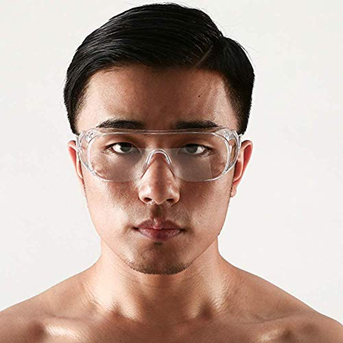 LLDKA Schutzbrille Filter Anti Reflective Hellblau für, Laboraugenschutz/UV/Aufprallschutz,Clear